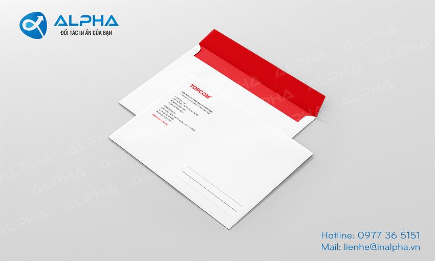 , Báo giá In Phong bì, In Alpha - Xưởng in uy tín, chất lượng, chuyên nghiệp tại Hà Nội