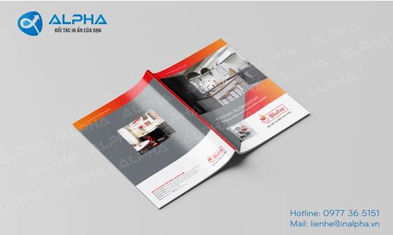 Hình ảnh các mẫu thiết kế in ấn Catalogue do In Alpha thực hiện