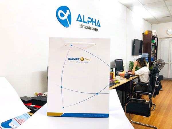 Dịch vụ in túi giấy In Alpha thực hiện mẫu này