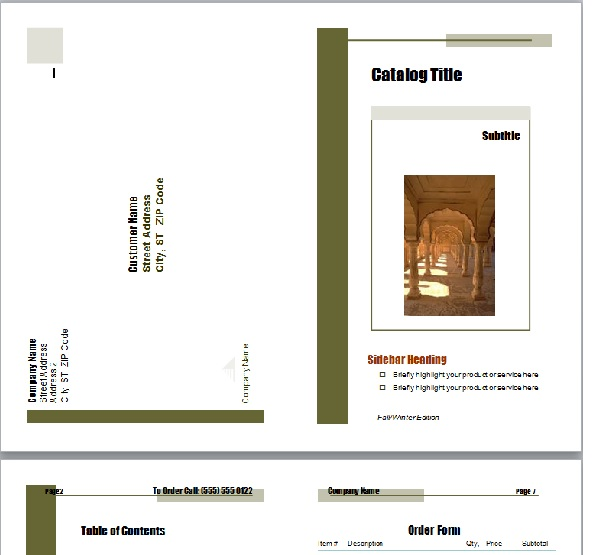 Chỉnh sửa mẫu catalogue có sẵn