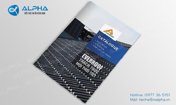 Mẫu catalogue được thiết kế và in bởi In Alpha Việt Nam