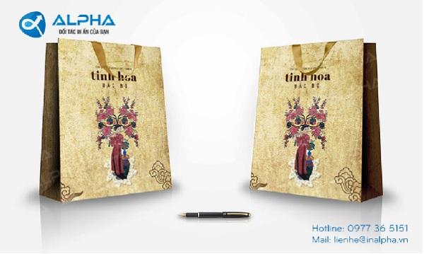 Mẫu thiết kế túi tinh hoa Bắc Bộ do In Alpha thiết kế