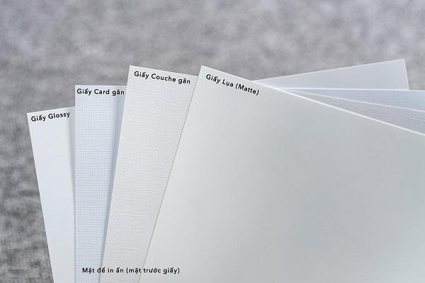 Phân biệt các loại giấy Matte, Glossy và Semi Gloss