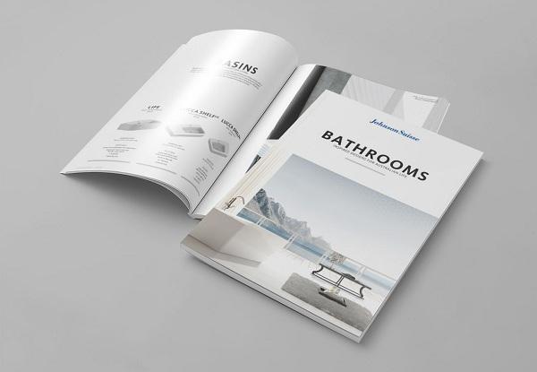 Thiết kế catalogue bằng giấy Briston cho độ sáng bóng cao và bám mực rất tốt