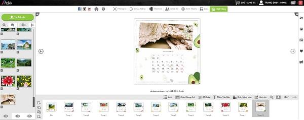 Phần mềm thiết kế lịch treo tường tết ArtClick