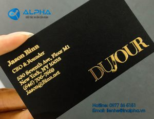 in ép kim, In Alpha - Xưởng in uy tín, chất lượng, chuyên nghiệp tại Hà Nội