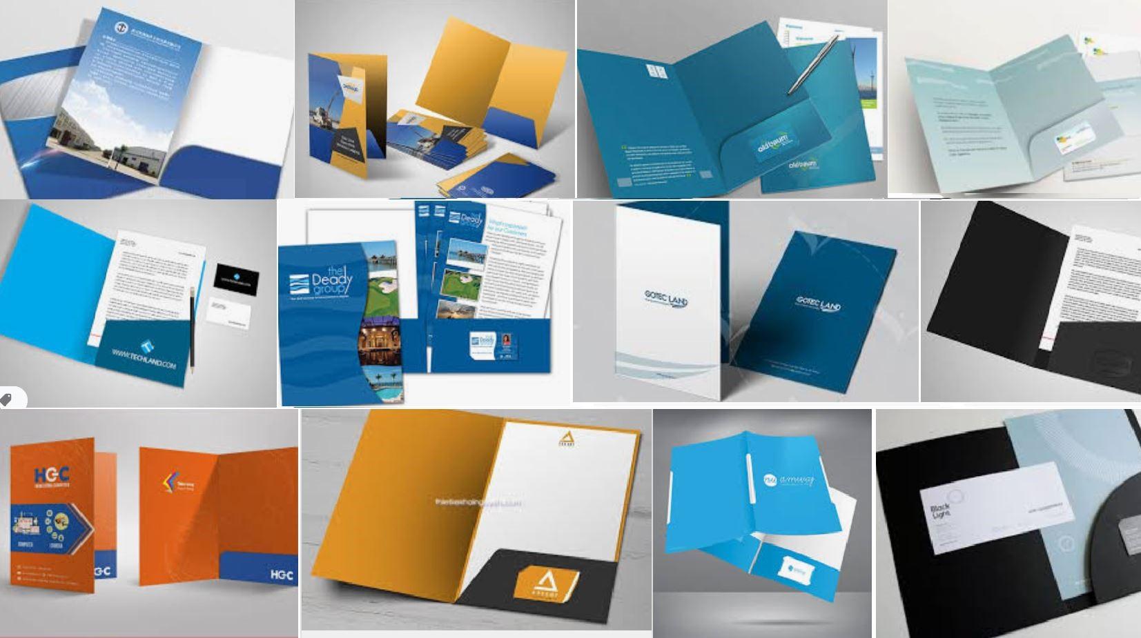 Folder là bìa đựng hồ sơ, tài liệu, một công cụ không thể thiếu để nhận diện thương hiệu cho các doanh nghiệp.